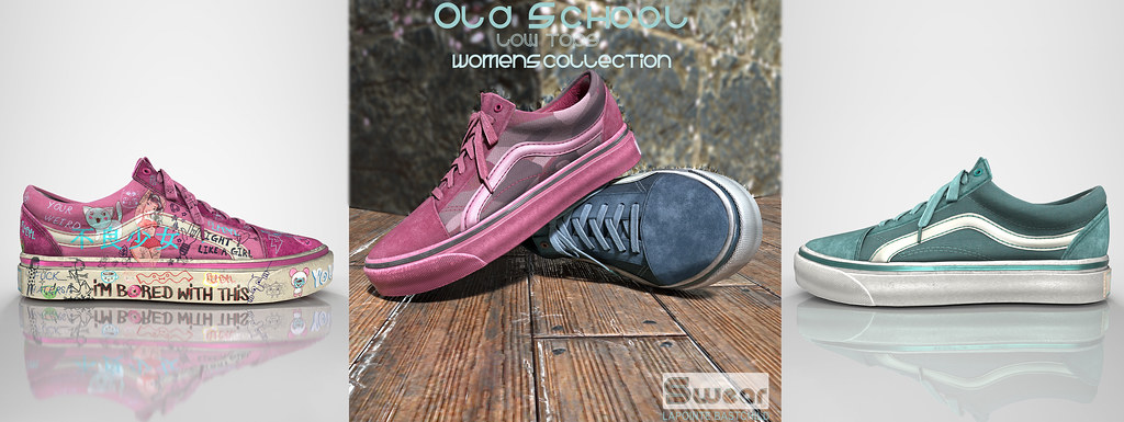 VIP Discount!  L&B Womens Old School Sneakers Fatpack