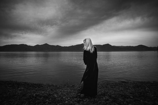 Melancholy lake ( monochrome )