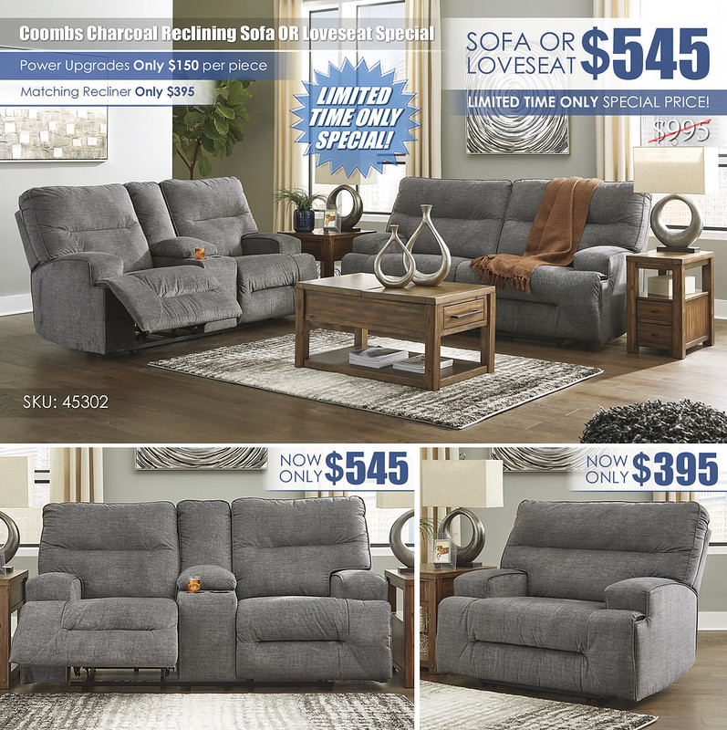 Coombs Charcoal Reclining Sofa Or Loveseat Special_45302-81-94-T378
