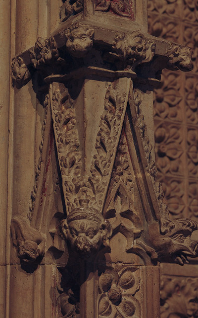 Lincoln, Lincolnshire, cathedral, pulpitum, ornament