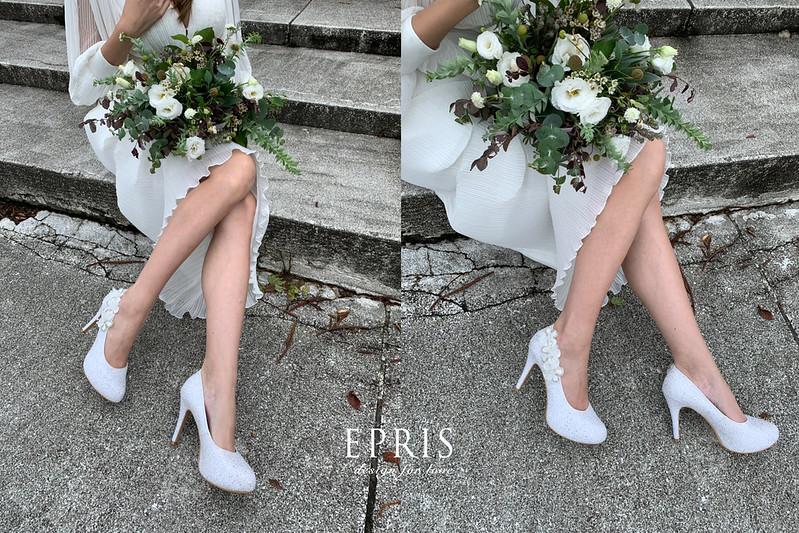白色高跟鞋