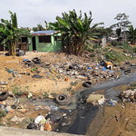 Polluted stream, Cocody, Abidjan, Côte d'Ivoire