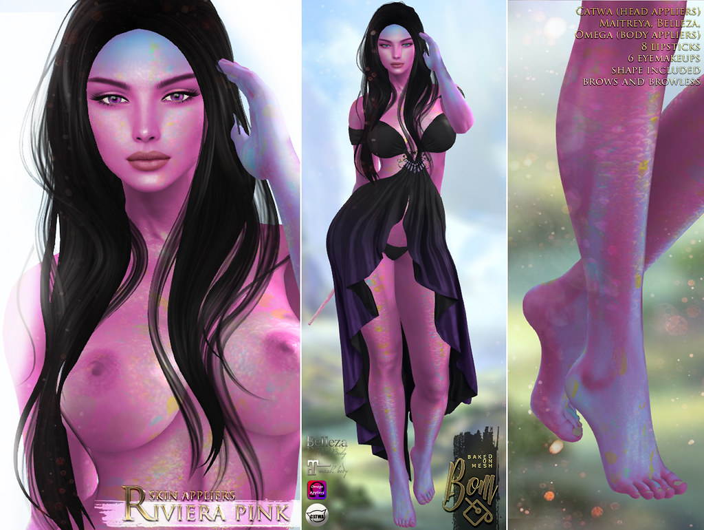 -Elemental- 'Riviera' Pink Skin appliers