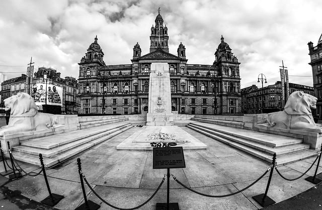 Cenotaph, George Square, Glasgow, Scotland UK