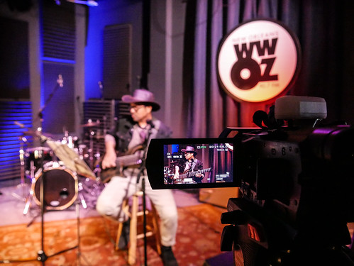 Roland Guerin at WWOZ - March 13, 2020. Photo by Katherine Johnson.