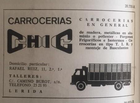 publicitat Carrosseries Chic Lleida