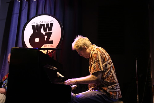 Brother Tyrone & the Mindbenders at WWOZ - March 12, 2020. Photo by Michele Goldfarb.
