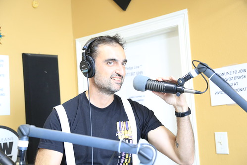 Your Cousin Dimitri on the air - March 12, 2020. Photo by Michele Goldfarb.