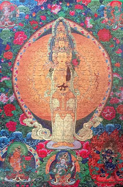 Bodhisattva Avalokiteshvara with Thousand eyes and Thousand and hands (1000pcs)