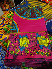 Wax print fabric from African Queen Fabrics, Brixton, London SW9
