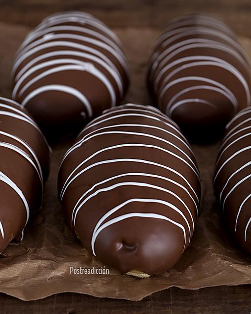 cuerno de chocolate receta