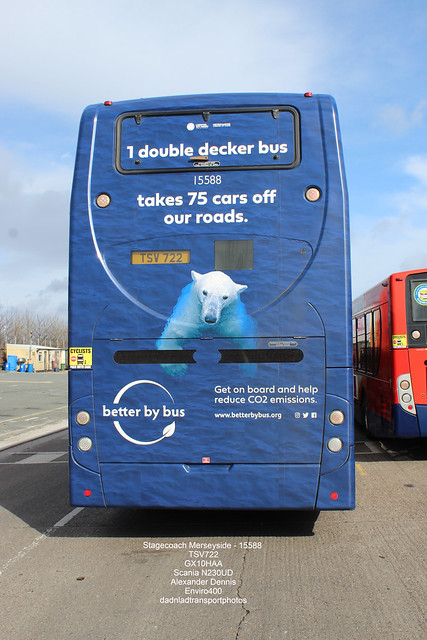 Stagecoach Merseyside - 15588  TSV722 / GX10HAA