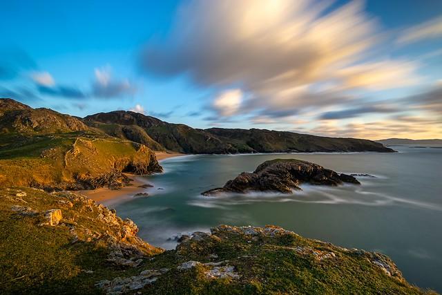 Sunset at Murder Hole Beach (Ireland). The Breath of Life.