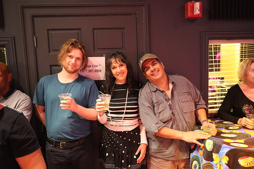 Holden, Noelani Musicaro, and Jorge Fuentes at the end of Spring 2020 membership drive - March 13, 2020. Photo by Demian Roberts.