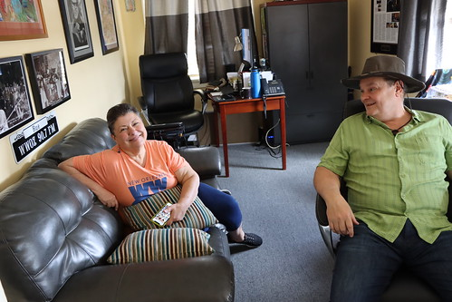Beth Arroyo Utterback and Louis Dudoussat - March 13, 2020. Photo by Demian Roberts.