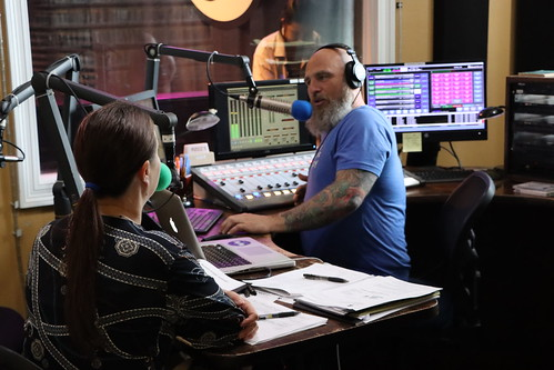 Ashli Richard Morris and Murf Reeves on the air - March 13, 2020. Photo by Demian Roberts.