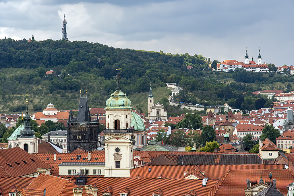 Looking west from Prague's Old Town Hall