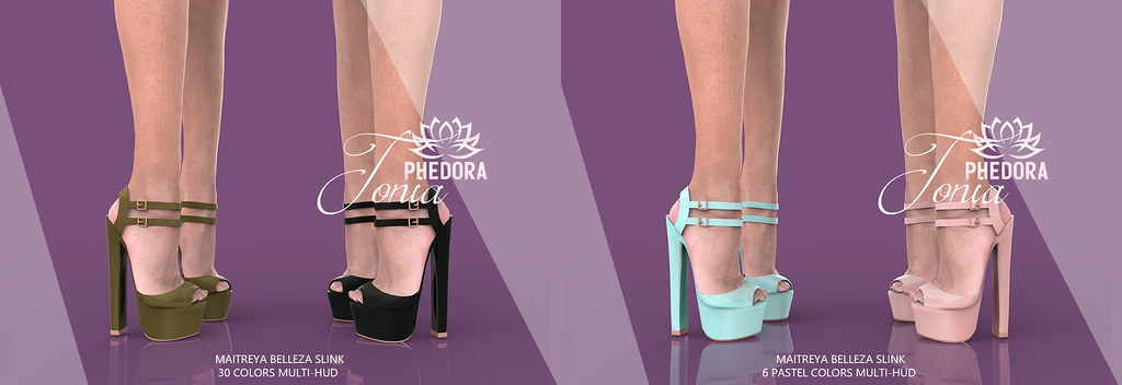 "Phedora for Kustom9 ~ ""Tonia"" ankle strap Heels ♥"