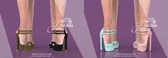 "Phedora for Kustom9 ~ ""Tonia"" ankle strap Heels ♥"