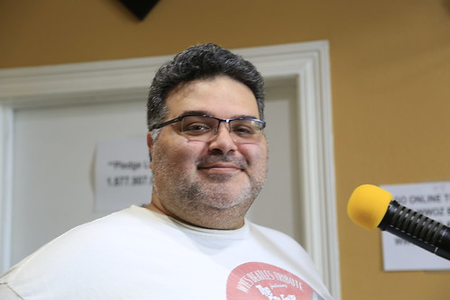 Duane Williams on the air - March 11, 2020. Photo by Michele Goldfarb.