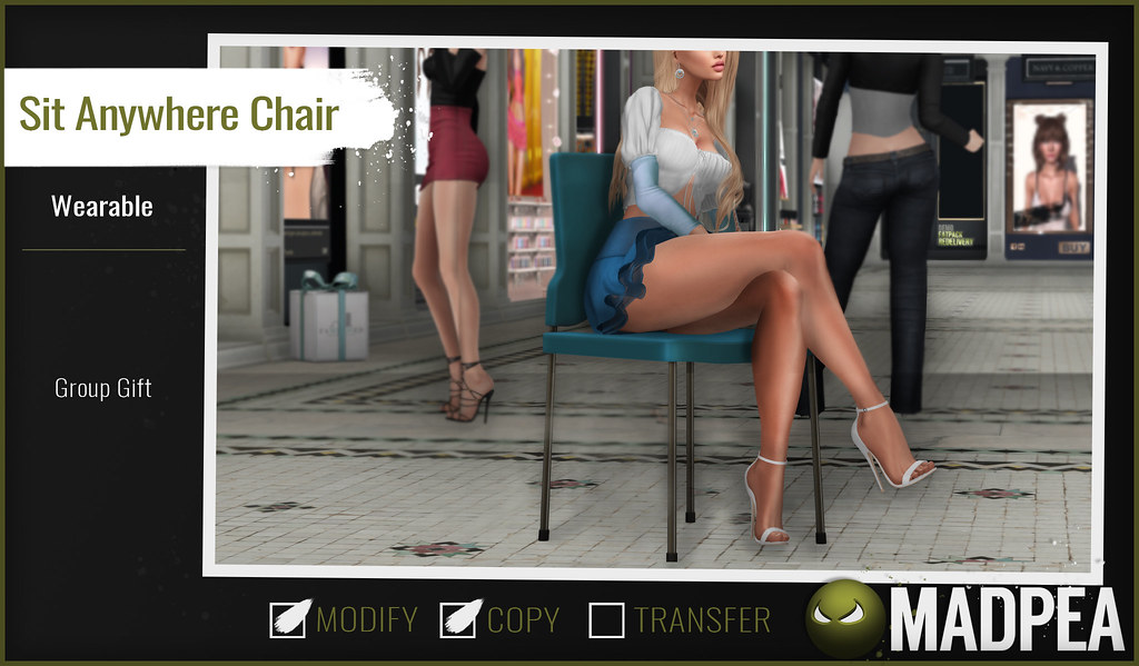 A Brand New MadPea Group Gift: the MadPea Sit Anywhere Chair!
