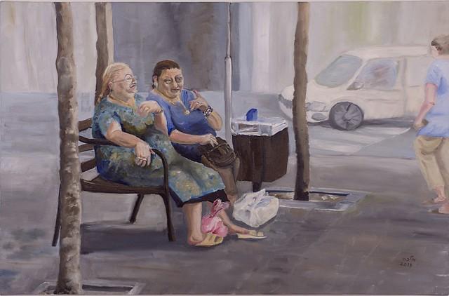 מלכה הוכברג  ציירת  אמנית יוצרת ישראלית עכשווית מודרנית היוצרת החדשנית פיגורטיבית יוצרות פלסטית חזותית malka hochberg  הפיגורטיבית ציור פיגורטיבי הפיגורטיבי