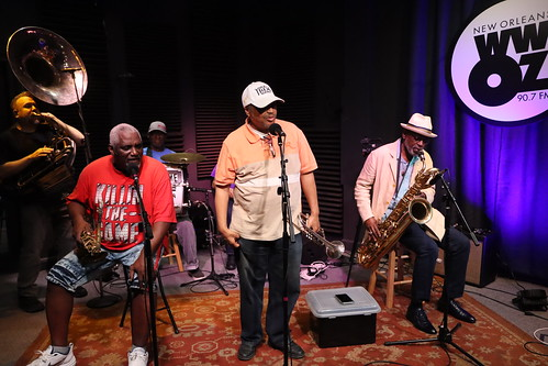 Treme Brass Band - March 13, 2020. Photo by Demian Roberts.