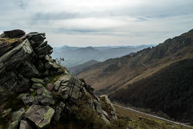 Vue sur le Pays Basque depuis l'Altxanga
