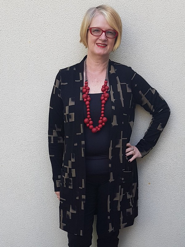 Blackwood cardigan in ponte from Super Cheap Fabrics