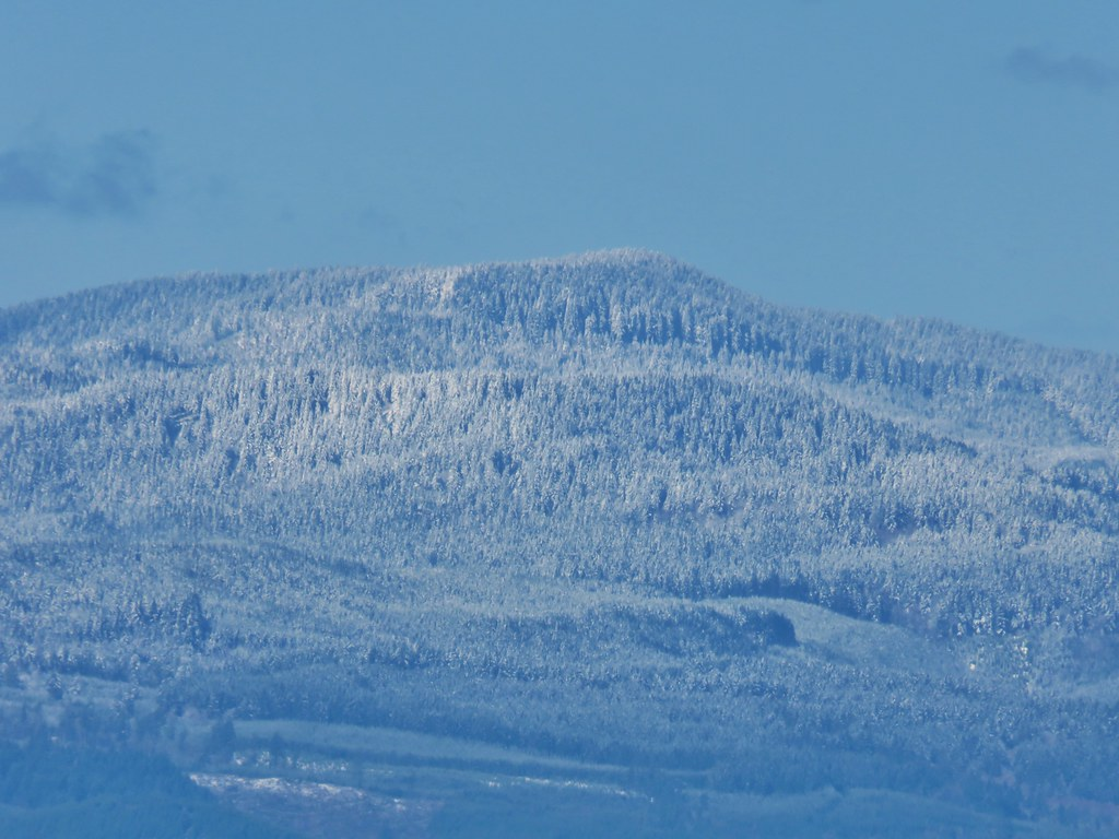 Snowy peak in the Coast Range