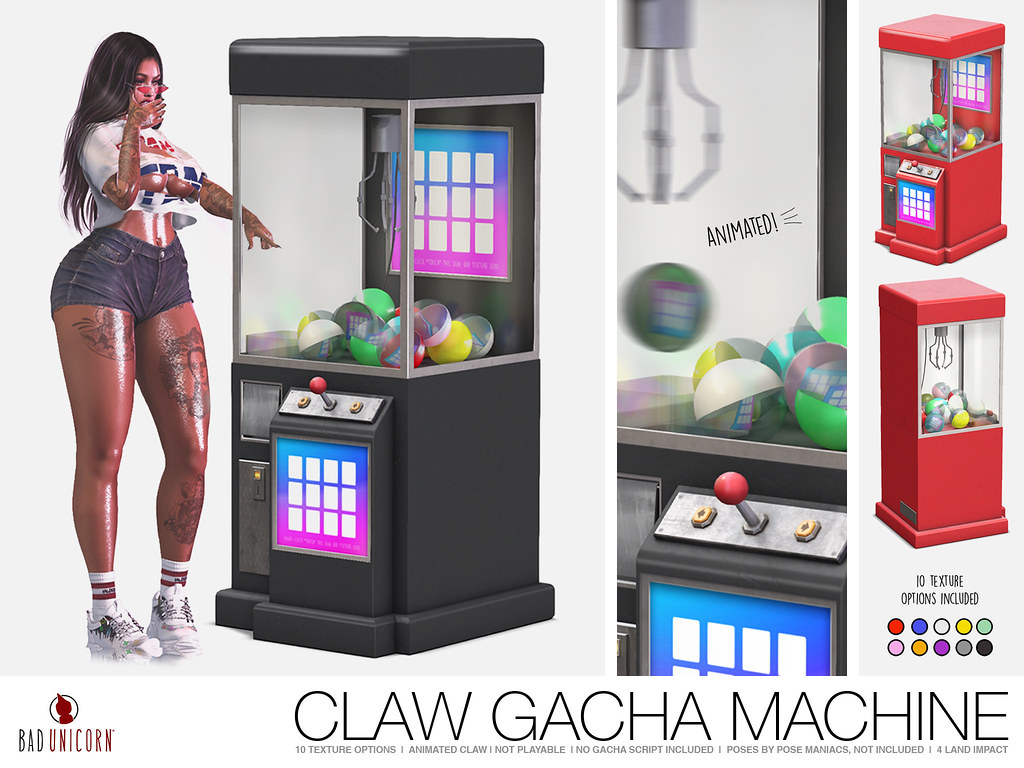 NEW! Claw Gacha Machine @ Kustom9