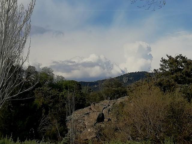 Storm building towards Hoyo de Manzanares near Madrid