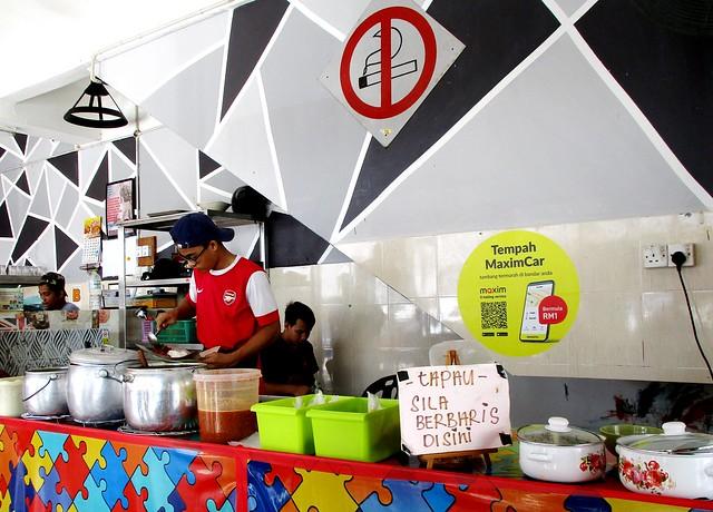 Nasi Kak Wok, counter