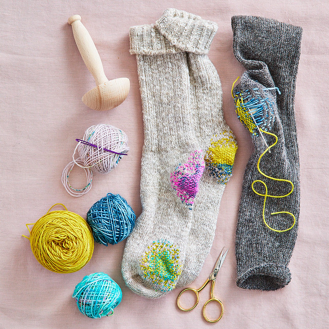 Visable Mending: Darning Socks