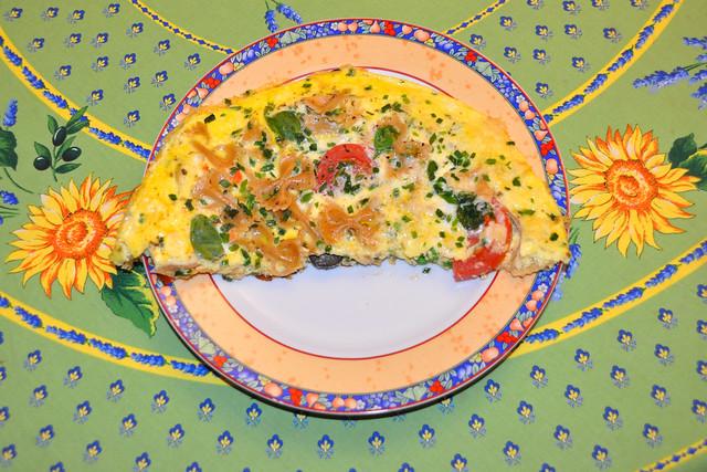 März 2020 ... Kunterbuntes Omelett ... Foto: Brigittte Stolle