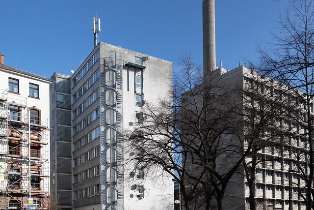 linien, in beton gegossen