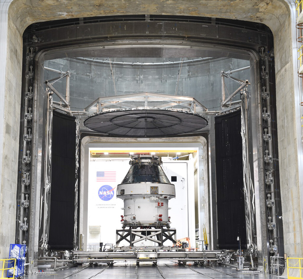 Orion completed tests at Plum Brook Station