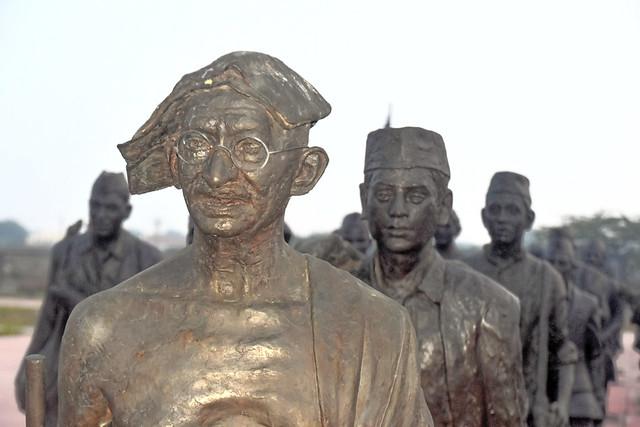 Statues of Gandhi and Other Satyagrahis at Dandi, Navasari, India