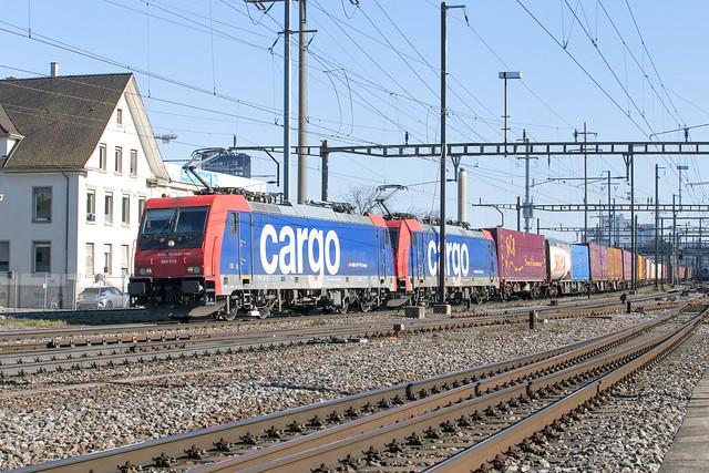 SBB Cargo 484 018 + 484 015 Pratteln