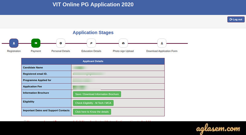VITMEE 2020 Application Form (Extended) - Apply Online at vit.ac.in