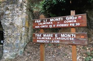 Calenzana sign GR20