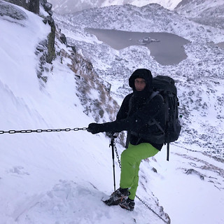 Without the right gear like crampons it is a suiced mission.