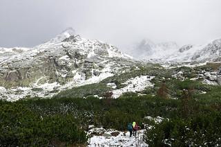 Start towards Mt Rysy.