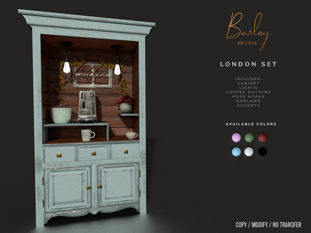 Barley Home & Decor – London Set @ Tres Chic