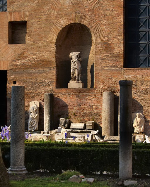 Ancient Roman archaeology bits - Museo Nazionale Romano, Terme di Diocleziano, Rome.