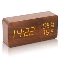 目覚まし時計 LEDデジタル 温度湿度計 USB給電式