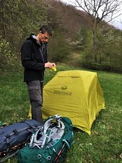 Wild camping near Lengenfeld unterm Stein