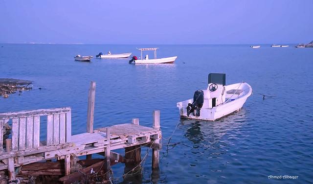 Early Morning Calm sea بحــر قرية الديــر قبل الدفان