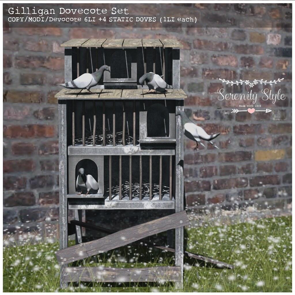 Serenity Style-Gilligan Dovecote Set