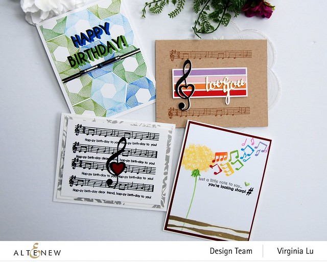 Altenew-Happybirthday to you-Diewith LogoTreble Love Die Set-Virginia#4